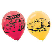DISNEY CARS 3 LATEX BALLOONS PACK OF 6 BIRTHDAY PARTY BALLOONS