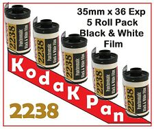 5 rolls Kodak 35 mm x 36 Exp Panchromatic B&W film so-2238