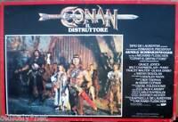 fotobusta 1984 CONAN il distruttore-Arnold Schwarzenegg-G.Jones-Chamberlain-1