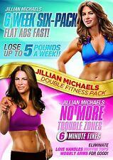 Jillian Michaels Six Week Six-Pack / No More Trouble Zones [2x DVD] NEU FITNESS