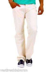 Pantaloni Uomo/Ragazzo Jeans ABSOLUT JOY B645 Gamba Dritta Bianco/Beige Tg 29