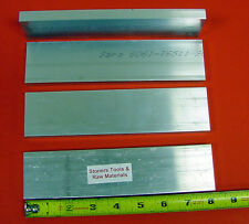 "4 Pieces 3/8"" x 2-1/2"" ALUMINUM 6061 FLAT BAR 8"" long T651 .375 Plate Mill Stock"