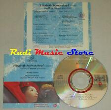 CD ELISABETH SCHWARZKOPF soprano GEOFFREY PARSONS pianoforte MOZART WOLF lp mc