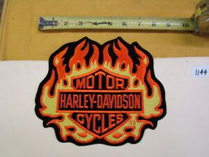 Harley flame logo patch jacket vest FXR Softail FL Dyna NOS XL fire FXRT 01144