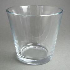 SANDRA RICH. Glas-ÜBERTOPF Kerzenglas, Teelicht rund ca 7 x 7 cm. KLAR. 50-99