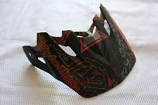 TROY LEE DESIGNS VORTEX MOTORCYCLE HELMET VISOR FLAT BLACK RED