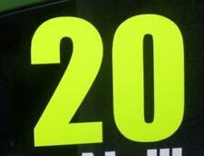 200mm RALLY WINDSCREEN WINDOW RACE NUMBER FLUORESCENT STICKERS CAR  JDM