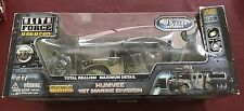 Elite Force USMC Humvee 1st Marine Division NEW in bad shape box 1/18