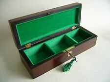 ANTIQUE VICTORIAN ROSEWOOD & MOTHER OF PEARL INLAID JEWELLERY BOX