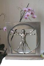 Der vitruvianische Mensch,bronziert,22x22cm,,erotik,polyresin,DaVinci