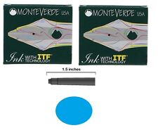 12 Monteverde International Standard Fountain Pen Ink Cartridges - Turquoise