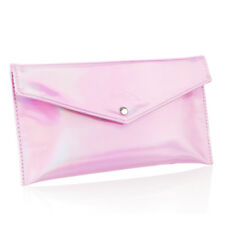 New Jessup PU Leather Pink Cosmetics Bag Travel Storage Pouch Case With Button