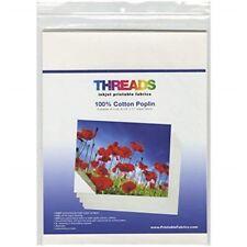 Threads Inkjet Printable Fabric Sheets 8.5 X 11-inch 100 Cotton Poplin