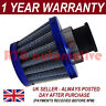 18mm AIR OIL CRANK CASE BREATHER FILTER MOTORCYCLE QUAD CAR BLUE CONE