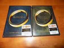 THE RETURN OF THE KING / FELLOWSHIP OF THE RING Extended Edition 2 DVD SETS NEW