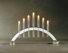Konstsmide 2432-903TR Lichterbogen Kerzenleuchter 7 flammig Metall/Acryl