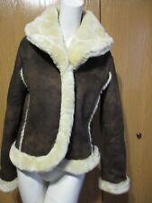 ** MEXX BROWN W BEIGE JACKET MACHINE WASHABLE SZ 8
