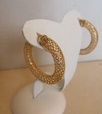 CERCHIO / orecchino  oro giallo traforato   750 mm  18 Kt