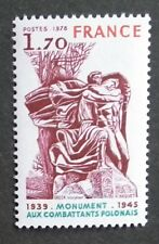 France (1978) Monument Polish War Victims / WWII / Statues - Mint (MNH)