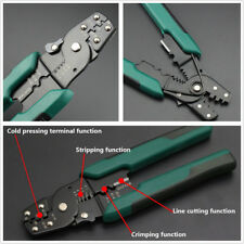 Portable 3in1 Crimping Cutter Cable Wire Stripper Pliers Electrical Crimper Tool