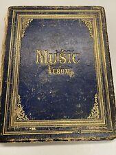 Music Songbook Philadelphia Piano Music 1868 Book Advertising Business