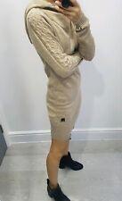 Bench women beige hoody knit jumper size S