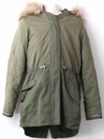 GIRLS MATALAN AGE 12 YEARS KHAKI HOODED PADDED QUILTED PARKA COAT JACKET KIDS