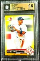 2017 Bowman Prospects YELLOW Gleyber Torres Rookie #BP80 RC BGS 9.5 (w/sub 10)!