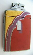 Art Deco Cigarette Lighter & Case Ronson De Light Supercase Chromium Plate