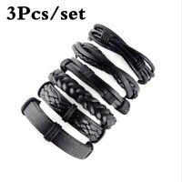 Fashion hand-woven Strap Men Bracelet Bangle jewelry Rope wrist band Accessories