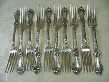 "Reed & Barton LES CINQ FLEURS  luncheon fork 7 1/8"" ,no mono 10 available"