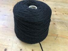 1000gram Cone Of Soft All Wool Chunky In Jet Black. Ideal For Knitting.