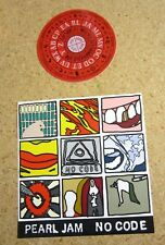 Pearl Jam 1996 Lot 2 Stickers - Tour Dates Concert And No Code Set Sheet