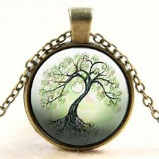 Tree of Life Glass Alloy Costume Necklaces & Pendants