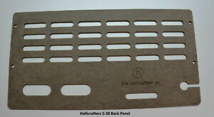 Hallicrafters S-38 Series Radio Back Panel.