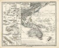 1884 Steiler Maps: Polynesia in the Pacifc Ocean (two map set)