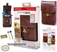 Housse Kit Cuir Marron The Legend of Zelda Nintendo New 3DS,DSI XL,3Ds,Xl Neuf