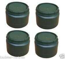 4 x 25 L grün Futtertonne Weithalsfass Transporttonne Camping Outdoor Behälter