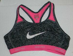 Nike Girls 'Pro Hypercool' Dri-FIT Sports Bra Animal Print Pink Neon XL Teen