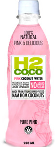H2 Coco Pink Coconut Water No Sugar Added 9.5 oz ( Pack of 24 )