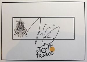 Jens Voigt SIGNED Tour de France cycling card. Bike