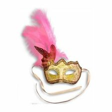 Pink Feather Glitter Mask Venetian Style Masquerade Ball Party Face Eye Mask.