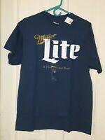 New  Vintage Line Miller Lite Beer A Fine Pilsner Beer T-Shirt multiple sizes