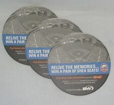 METS FINAL SEASON AT SHEA Bar Coasters BUDWEISER SNY SWEEPSTAKES Lot of 3