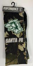Santa Fe Wolves Performance Socks 1 Pair Men's 6-8 Women's 6-9 Green Black Gray