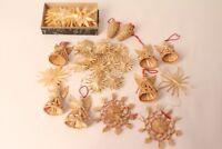 Weihnachtsschmuck Stroh Engel Dekoration festlich Christbaum Strohengel Sterne