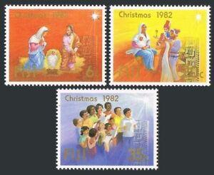 Fiji 477-479,480,MNH.Mi 471-473,Bl.4. Christmas-1982.Holy Family.Faith.Raphael.
