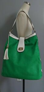 Charming Charlie Purse Gorgeous Gardens Large Bag Green and Cream