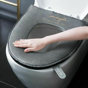 Closestool Cushion Washable Soft Warmer Mat Cover Pad Bathroom Toilet Seat