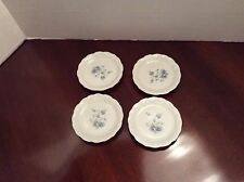 "Johann Haviland "" Blue Garland"" China Four Coasters or Individual Butter Plates"